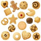 Iconos de la galleta stock de ilustración