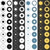 Iconos de la gama de la abertura fijados stock de ilustración