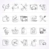 Iconos de la gasolinera Fotografía de archivo