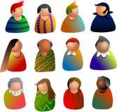 Iconos de la gente Imagenes de archivo