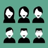 Iconos de la gente Foto de archivo libre de regalías