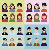 Iconos de la gente Imagen de archivo libre de regalías