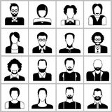 Iconos de la gente Imagen de archivo