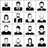 Iconos de la gente Fotografía de archivo