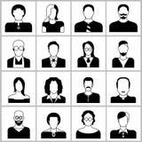 Iconos de la gente Fotos de archivo