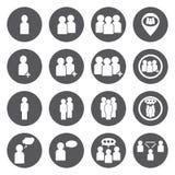 Iconos de la gente blanca del vector fijados Fotografía de archivo