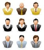 Iconos de la gente de Avatar: Empleo # 1 Imagenes de archivo