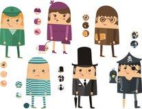 Iconos de la gente de diversas profesiones Foto de archivo libre de regalías