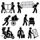 Iconos de la gente del cargador Fotos de archivo libres de regalías