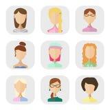 Iconos de la gente en un estilo plano Foto de archivo