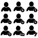 Iconos de la gente fijados Fotos de archivo