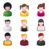 Iconos de la gente - joven Imagen de archivo