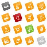 Iconos de la gerencia - serie pegajosa Foto de archivo libre de regalías