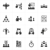 Iconos de la gerencia y del asunto Imagen de archivo libre de regalías