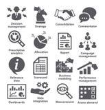 Iconos de la gestión de negocio Paquete 18 Fotografía de archivo
