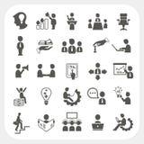 Iconos de la gestión y del negocio fijados Fotografía de archivo libre de regalías