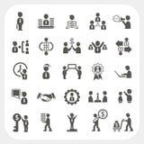 Iconos de la gestión y del negocio fijados Fotografía de archivo