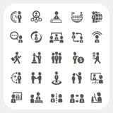 Iconos de la gestión y del negocio fijados Imagenes de archivo