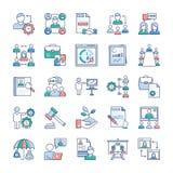 Iconos de la gesti?n de negocio fijados ilustración del vector