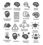 Iconos de la gestión de negocio Paquete 08 Imagenes de archivo