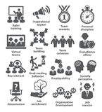 Iconos de la gestión de negocio Paquete 21 Fotos de archivo