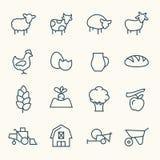 Iconos de la granja ilustración del vector
