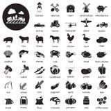 Iconos de la granja fijados Fotos de archivo