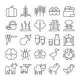 Iconos de la granja fijados Imágenes de archivo libres de regalías