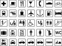 Iconos de la guía Foto de archivo libre de regalías