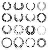 Iconos de la guirnalda del laurel
