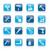 Iconos de la herramienta del edificio y de la construcción Fotografía de archivo libre de regalías