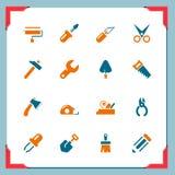 Iconos de la herramienta del trabajo | En una serie del marco libre illustration