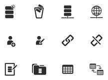 12 iconos de la herramienta del web Foto de archivo