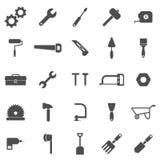 Iconos de la herramienta en el fondo blanco ilustración del vector