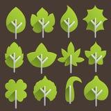 Iconos de la hoja stock de ilustración