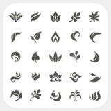 Iconos de la hoja fijados Fotos de archivo