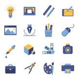 Iconos de la impresión y del diseño gráfico Imagenes de archivo