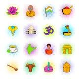 Iconos de la India fijados ilustración del vector