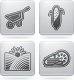 Iconos de la industria: Agricultura stock de ilustración