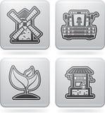 Iconos de la industria: Agricultura Fotografía de archivo libre de regalías