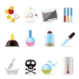 Iconos de la industria de la química Fotos de archivo libres de regalías