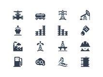Iconos de la industria de petróleo Fotografía de archivo libre de regalías