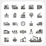 Iconos de la industria fijados Imagen de archivo libre de regalías