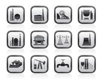 Iconos de la industria pesada Imágenes de archivo libres de regalías