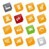 Iconos de la industria - serie pegajosa Imagen de archivo