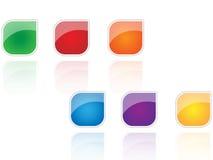 Iconos de la insignia Fotografía de archivo