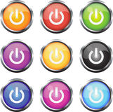 Iconos de la insignia de 'ON' Fotos de archivo libres de regalías