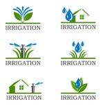 Iconos de la irrigación Imagen de archivo libre de regalías