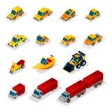 Iconos de la ISO: y vehículos industriales Foto de archivo libre de regalías