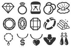 Iconos de la joyería libre illustration